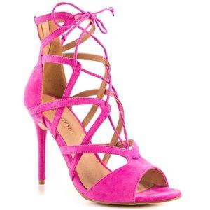 Fuchsia Strappy Heels